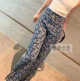 Wholesale 2020 Classic high-waisted sexy jeans street hip hop fashion loose straight leg wide-leg pants wash women jeans free shipping