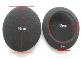 foam covers for headphones Canada - arphone Accessories 2pcs pair 5cm Foam Ear pads For headphones PC130 PC131 PX80 PX100 H500 Thicken Big Ear Pad Foam Earbud sponge CoverS ...