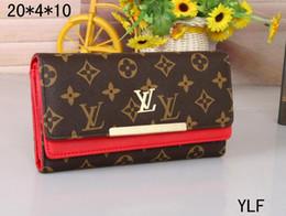 2020 Top Designer wallet Hot Sale Pu Leather Women Long Purse Lady Fashion Wallet Clutch Bag Wholesale Free air mail designer handbags L on Sale