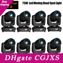 electronics usa Australia - Discount Price 8 Pack 75w Led Spot Moving Head Lights Dmx512 Control Usa Luminus Led Moving Head Gobo Prism Function Electronic Focus Zoom