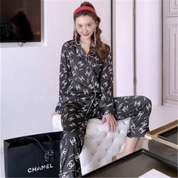 Wholesale mens satin pajamas for sale - Group buy Couple Pajamas Set Women Mens Silk Satin Pajama Set Couples Long Sleeve Flower Printed Sleepwear Homewear Pj Unisex Pyjamas Plus Size M