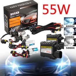 Wholesale H7 HID Xenon Bulb Kits 55W Xenon Light Car Headlight H1 H3 H11 9005 9006 4300k 5000k 6000k 8000k HID Conversion Ballast Headlamp