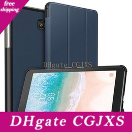s2 case stand NZ - Galaxy Tab S4 10 .5 Case Pu Leather Folio Cover For Tab A 10 .1 S3 S2 Tabe E 9 .6 8 Inch Stand Full Protective Hard Shell With Auto Sleep  W