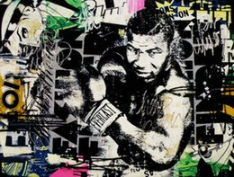 box painting oil NZ - Alec Monopoly Graffiti art Mike Tyson Boxing wall decor Handpainted &HD Print Oil Painting On Canvas Wall Art Canvas Pictures 200817
