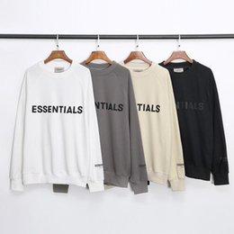 Wholesale long sleeve hoody men online – oversize Fashion Mens Autumn Winter Fear Of God Essentials Reflective Hoodie Skateboard Loose Hoodie Fog Hoody Unisex Hooded Sweatshirt