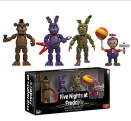 sister doll Canada - Game 4pcs Five Nights At Freddy S Action Figure Set Fnaf Foxy Bonnie Freddy Fazbear Sister Location Model Dolls Fnaf Collect Toy