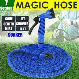 150Feet 45m Extra Long Garden Hose Pipe Expandable Flexible Expanding High Pressure Retractable Hose Blue+7 Setting Spray Gun