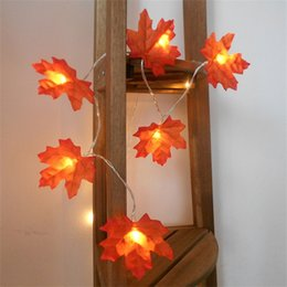 leaf string lights NZ - Maple Leaves Lamp String Led Light Up Toys Halloween Lights Chain Room Decorative Battery Free Hot Selling With High Quality 4 9md J1