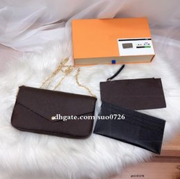 genuine leather items NZ - Sale 3 piece set Shoulder bag women Genuine Leather handbags purses lady tote bags Coin Purse three item high quality With box 3699