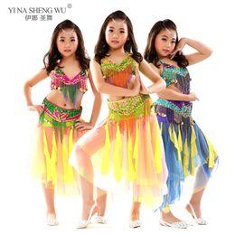 Wholesale kids bras for sale - Group buy 3pcs Bellydancing Performance Clothes For Kids Oriental Dance Costumes Skirt Bra Belt Suit Kid Belly Dance Costume Set Pieces