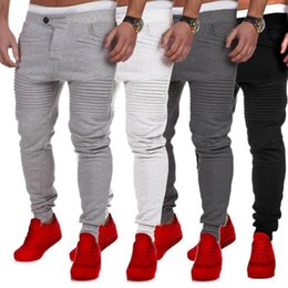Discount men lycra running pant Men Jogger Running Pants Sportwear Baggy Harem Pants Slacks Dance Trousers Sweatpants