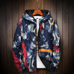 mens reversible jackets NZ - Winter Camouflage Mens Jacket Fashion Long Sleeve Reversible Hooded Thin Jackets Casual Mens Sportswear Mens Winter Coats