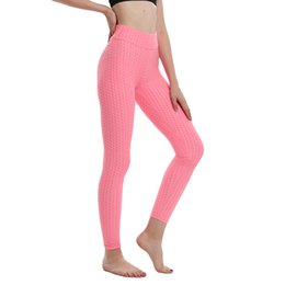 pink sport clothes NZ - 2020 Women's Sportswear Pink Fitness Yoga Pants Gym Exercise Sport Clothes High Waist Skinny Yoga Pants Running for Female