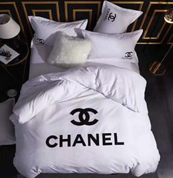 Branded Cotton Bedding Sets Fashion Adult Colorful Letter Flower Duvet Cover Quilt Cover Sets Brief BedclothesNo Filling