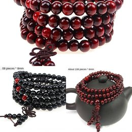 red sandalwood bracelets Canada - Imitation red sandalwood 108 knot Beads Bracelet jewelry Wood 216 Buddha beads bracelet online store gift jewelry