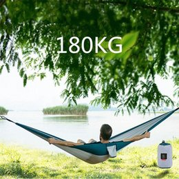 portable single beds NZ - Ultralight Hammock Adult Outdoor Camping Hunting Hammock Portable Single Double NH17D012 Sleeping Bed 3eMF#