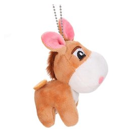donkey dolls Canada - Little Donkey Keychain Fun Plush Doll Children Toycute Little Donkey Pendant Little Donkey Keychain Fun Plush Doll Children Toy