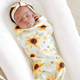 infant sleeping patterns 2021 - A858 Newborn Infant Baby Swaddle Sleeping Bags Baby Muslin Blanket + Headband Baby Soft Cocoon Sleep Sack with Headband