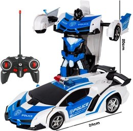 2 in 1 RC car toys model toy Transformation Robots Car 2020 sell Deformation robot car on Sale