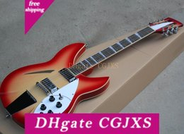 semi hollow body 12 strings 2020 - Cherry Red 12 Strings Semi -Hollow Electric Guitar With 2 Pickups ,Rosewood Fingerboard ,Can Be Customized As Request ch