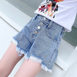 Wholesale trendy hot pants resale online - Girls shorts thin new girls hot summer casual pants and jeans wear medium and large children jeans casual pants trendy