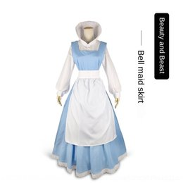 Wholesale belle costume women for sale – halloween P33X5 Beauty maid Beast Halloween maid Belle role playing cosplay Beast female singer Beauty and clothing Halloween and costume Belle role pl