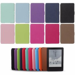 kindle case generation UK - Pu Leather Ultra Thin Case For Amazon Kindle Paperwhite 1 2 3 Smart Magnetic Design Cover For Kindle 958 6th Generation