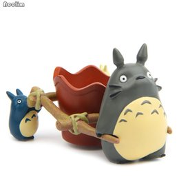 flower pot crafts Australia - Modern Cartoon Succulent Planter Pot Resin Creative Crafts Cute Totoro Flower Pot Home Office Table Decorations Garden Supplies Y200709