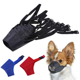 Toptan satış Anti Barking Köpek Namlu Ayarlanabilir Pet Ağız Burunsalıklar Naylon Kayış Nefes Dog Ağız Namlu Karşıtı Bite Chew IIA662