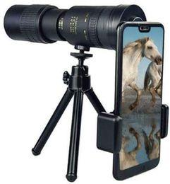 4K 10-300X40mm Супер телеобъектив Монокуляр телескоп с Smartphone Holder Штатив -для Наблюдение за птицами / Охота / Кемпинг / путешествия на Распродаже
