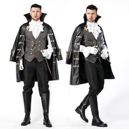 warrior women costumes UK - 1r4sK Role Playing court Earl Halloween costume masquerade ball costume warrior men's stage clothes clothes stage knight vampire