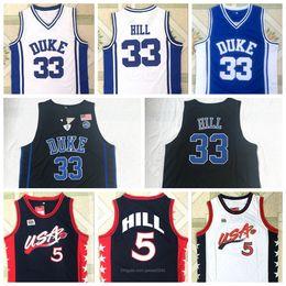 Wholesale jersey devil for sale – custom New NCAA Men Duke Blue Devils Jersey Grant Hill Dream Team Blue White All Stitched College Basketball jerseys