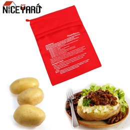 Discount potatoes bags NICEYARD Microwave Baking Potatoes Bag Quick Fast Baked Potatoes Rice Pocket Easy To Cook Steam Pocket Washable Cooker