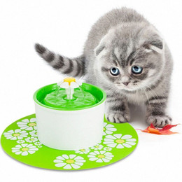 Pet Feeding Mat Placemat Cat Dog Large Floral Anti Slip Waterer Pad Silicone Water Dispenser Fountain Feeder Accessories PoEA#