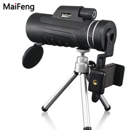 telescope monocular for phone UK - cgjxsHigh Quality Monocular 40x60 For Mobile Phone Camera With Universal Phone Clip Binoculars Telescope Optic Lens Lll Night Vision T190627