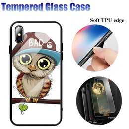 cartoon tempered glass iphone UK - Cgjxs Beautiful Painted Cartoon Tempered Glass Phone Back Case Cover For Iphone 6 6s 7 8 Plus X Xs Max Xr Dhl Fast Shipping