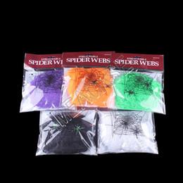 venda por atacado Presentes Halloween assustador do partido Props Branco Stretchy Cobweb a forma engraçada Teia de aranha Haunted House Halloween Decoração Crianças Halloweens D81801