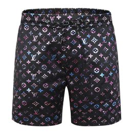mens patterned shorts Canada - Summer Mens Shorts Reflective Coating Designers with Letters Patterns Brand Shorts Pants Anti-Water Luxury Beach Shorts Leisure Swimwear