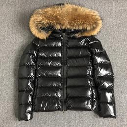 Wholesale womens winter fur hood coat for sale - Group buy Womens Down jacket fur hood Sashes winter Parkas White duck down coats Raccoon Fur Black women Down jacket bomber jacket S XL UK S L