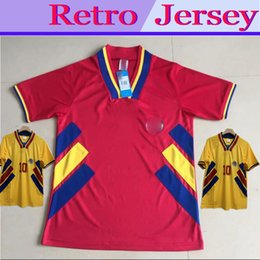 Wholesale romania for sale – custom 1994 ROMANIA HAGI RETRO VINTAGE HOME AWAY Thailand Quality soccer jerseys uniforms Football Jerseys shirt Embroidery camiseta futbol