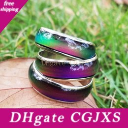 bezel bulk NZ - Hot Sell 50pcs Lots Unisex Kids Mood Band Rings Amazing Magic Color Change Emotion Feeling 6mm Width In Bulk