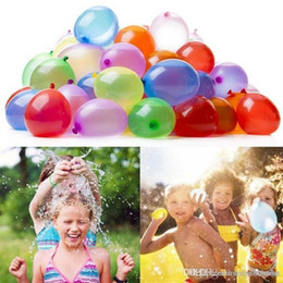 water balloons games Canada - 111pcs Water Balloons Summer Children Water Bomb War Outdoor Game Party Toy for kids DHL Free Shipping 08