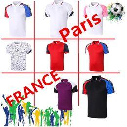 Wholesale cartoon shirt designs online – design 2021 Paris shirt Football soccer jersey fashion mens Kylian polo t shirts polo di design da uomo men cartoon t shirts jogging