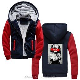 Wholesale hentai hoodie online – design Waifu Shirt Otaku Hentai Cute Girl Hoodies Concert Hoodie Men Winter Warm Thick Zipper Sweatshirt Coat