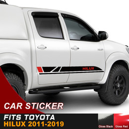 car side graphics 2020 - Car Modified Decals Side Door Stripe Styling Graphic Vinyl Scratch Stckers Custom Fit For Toyota FORD NISSAN HONDA cheap