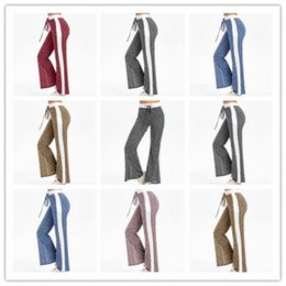 wide leg yoga pants NZ - Lady Wide Legged Pants Woman Fashion Straight Pants Girl Drawstring Wide Leg Yoga Pants Lady Outdoor Elastic Casual Trousers WY512Q sEJM#