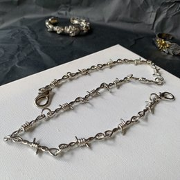 pant chains NZ - Ins Style Hip Hop Men Women Thistles And Thorns Necklace Silver Pants Chains Hip Hop Fashion Jewelry