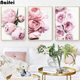 peonies picture UK - 5d diy Diamond Embroidery Peony Floral Botanical Painting Full Squar round Drill diamond painting Flowers Artwork home decor