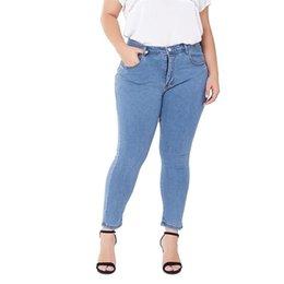 Wholesale women work pants resale online – Denim Pants Women KALENMONS High Waist Washed Jeans Pocket Bleached Summer Casual Trousers Baggy Work Jean Women Vintage