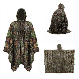 tactical uniforms 2020 - Camouflage Hunting Ghillie Suit Woodland Uniform Camouflage Suits Tactical Clothes Army Sniper Jungle Clothing cheap tac